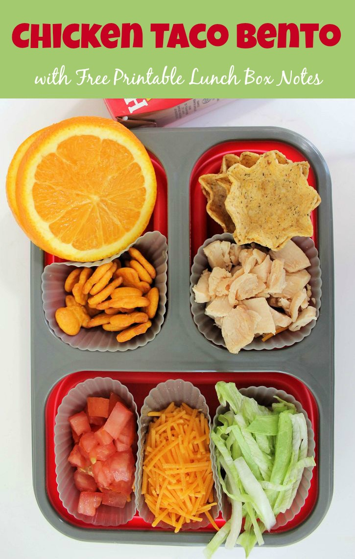 chicken taco bento with free printable lunch box notes mom foodie. Black Bedroom Furniture Sets. Home Design Ideas