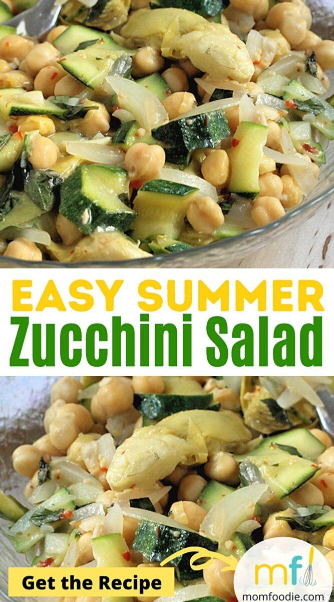 Chickpea zucchini salad