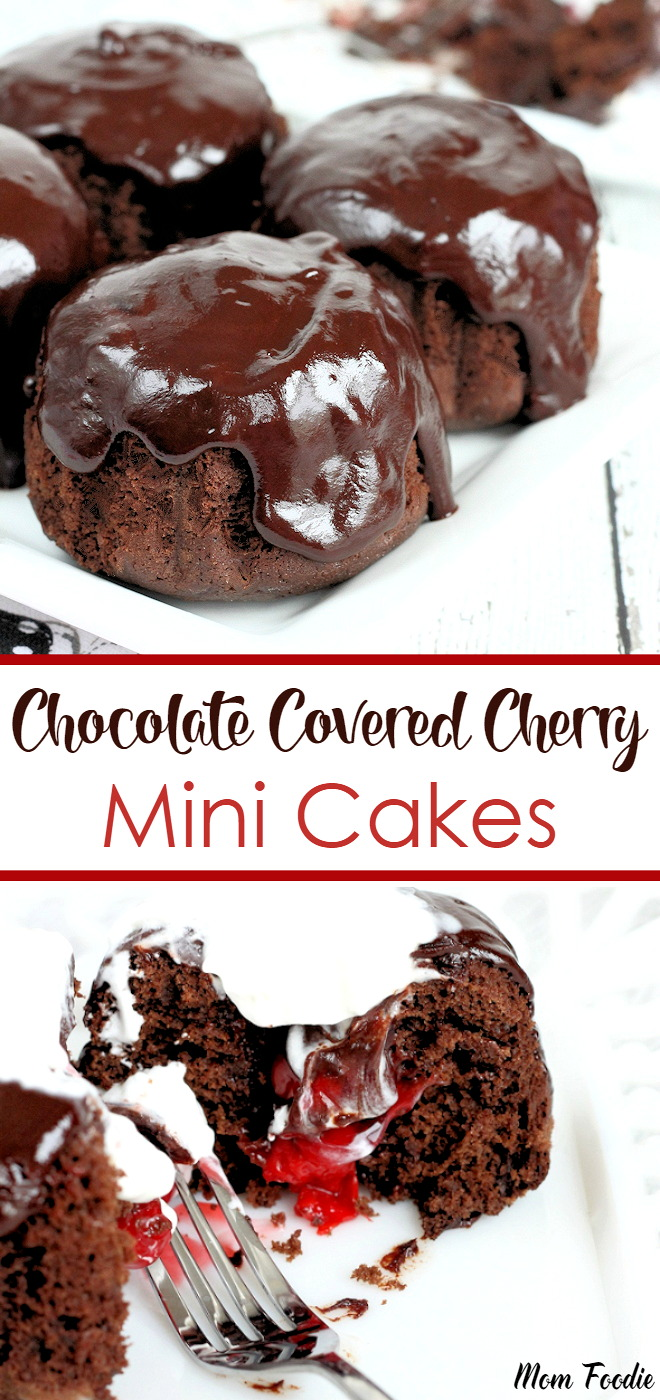 Chocolate Covered Cherry Mini Cakes