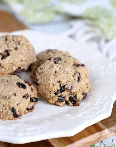 Chocolate Cranberry Oatmeal Breakfast Cookies