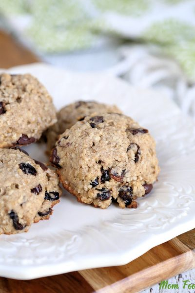 Chocolate Cranberry Oatmeal Breakfast Cookies