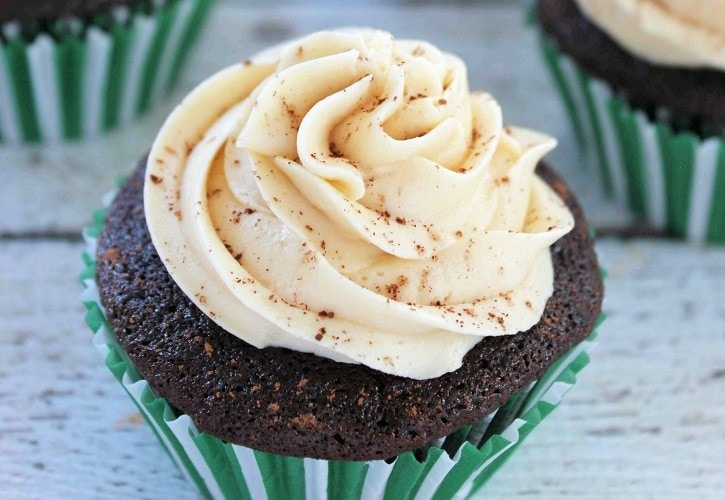 Chocolate Guinness Cupcakes with Bailey's Frosting
