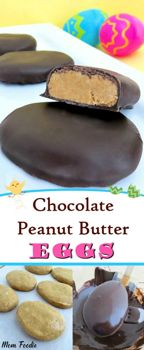 Chocolate Peanut Butter Easter Eggs  - Fun Easter Food Craft