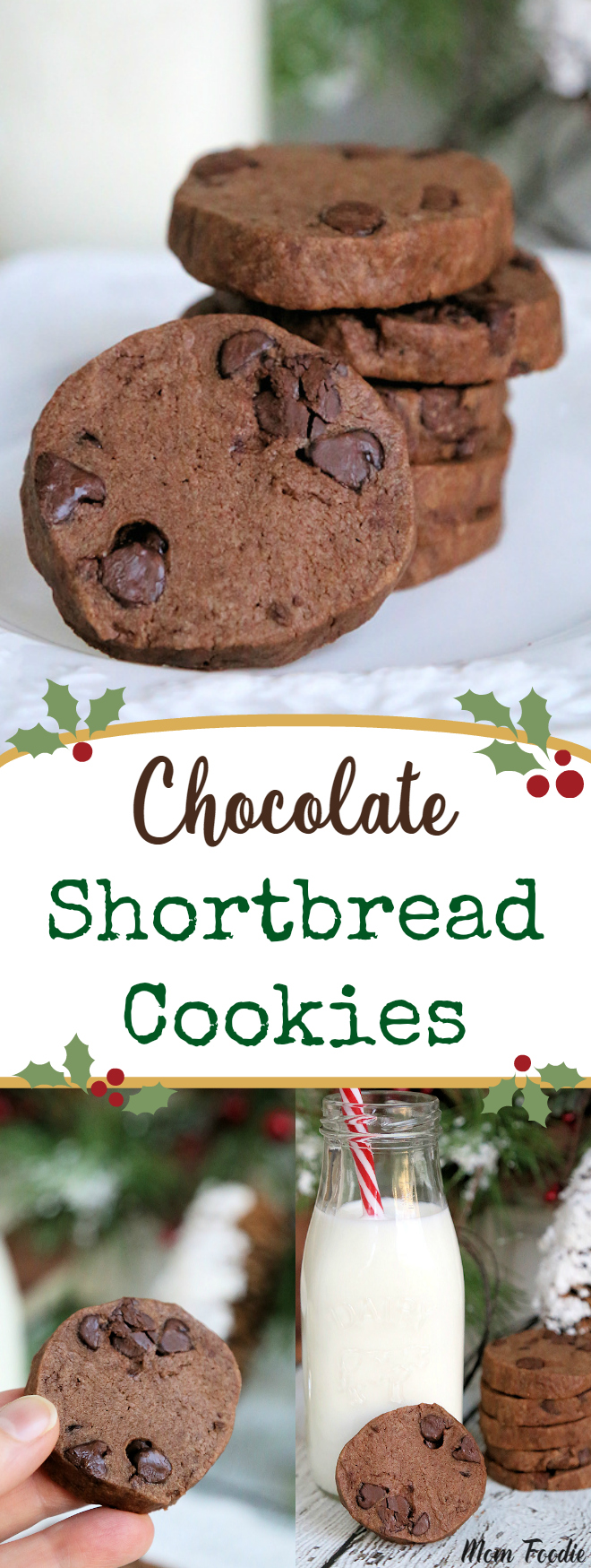 Double Chocolate Shortbread Cookies Recipe #chocolate #shortbread #cookies