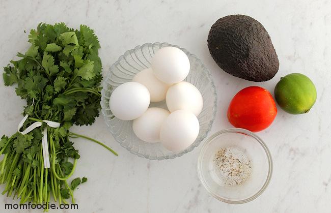 Christmas Deviled egg ingredients