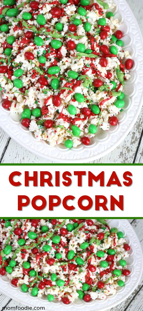 Christmas Popcorn Recipes.Christmas Popcorn White Chocolate Popcorn Snack Mix