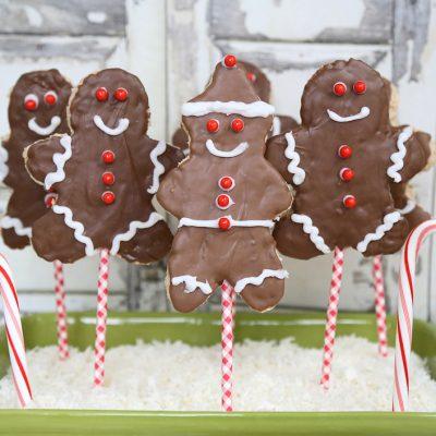 Christmas Rice Krispies Treats - Gingerbread Boy