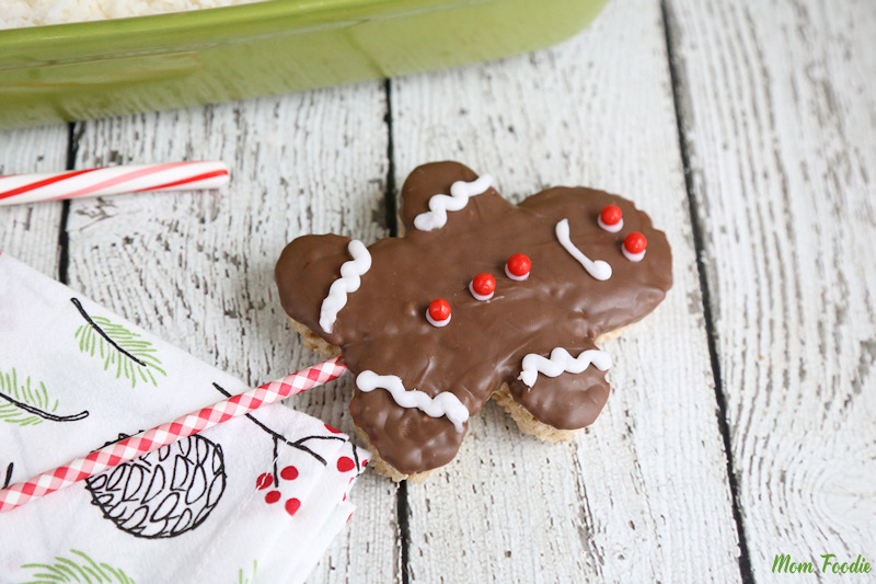 Christmas Rice Krispies Treats - Gingerbread Boy Pops