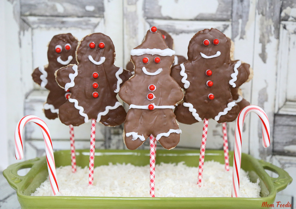 Christmas Rice Krispies Treats - Gingerbread Boy
