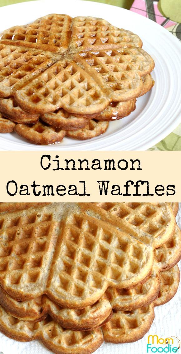 Cinnamon Oatmeal Waffles