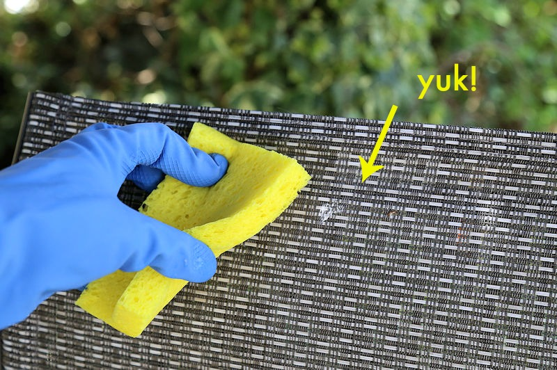 Cleaning patio furniture