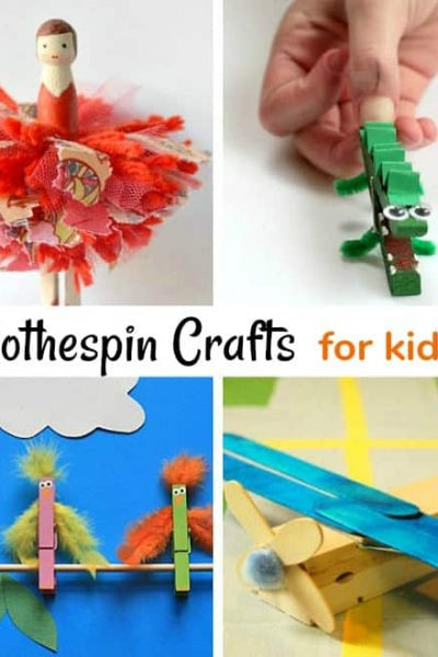 16 Adorable Clothespin Crafts for Kids