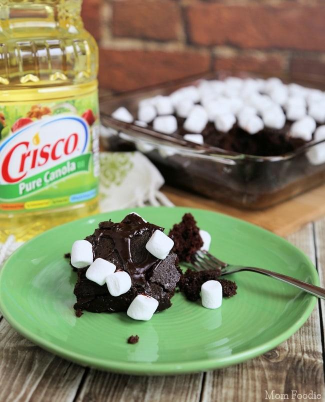 Cocoa Cake Recipe marshmallow topped