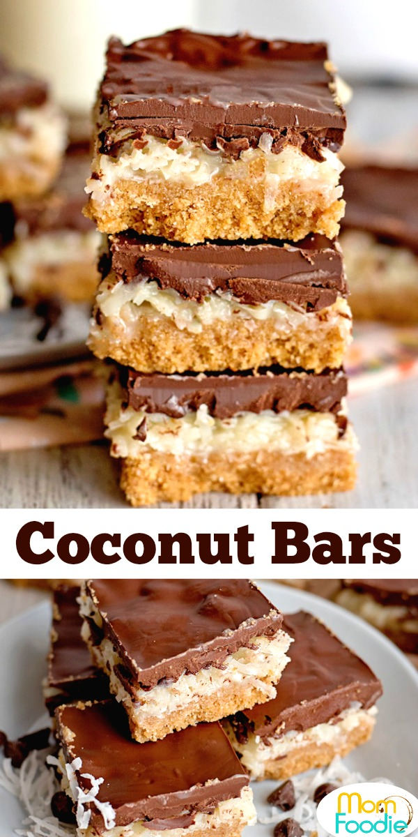 Coconut Bars Pinterest