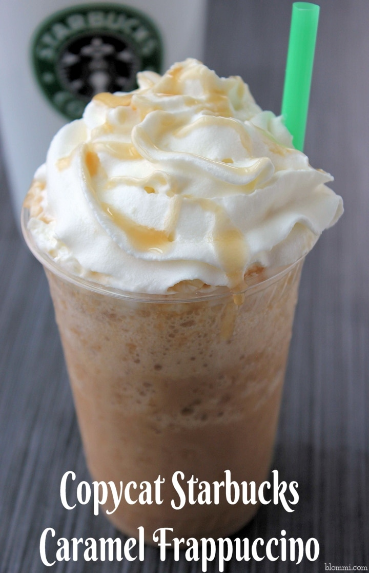 Caramel Frappuccino Recipe Starbucks Copycat Mom Foodie