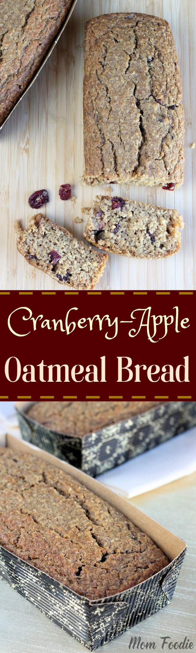 Cranberry Apple Oatmeal Bread