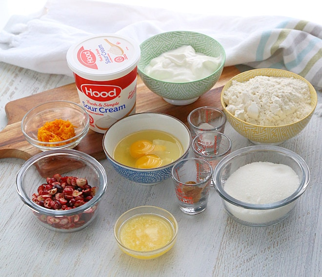 Cranberry Orange Donuts ingredients
