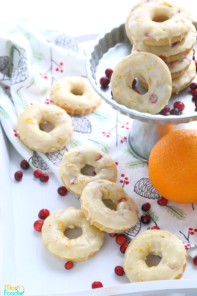 Cranberry Orange Donuts