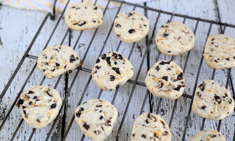 Cranberry Orange Shortbread Cookies recipe