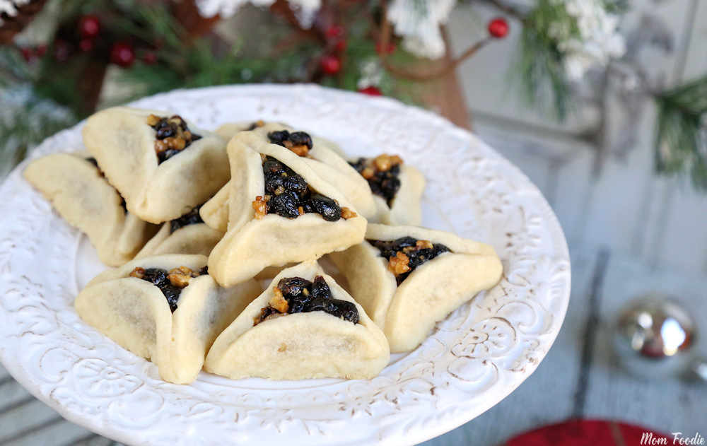 Cranberry Walnut Filled Shortbread Cookies