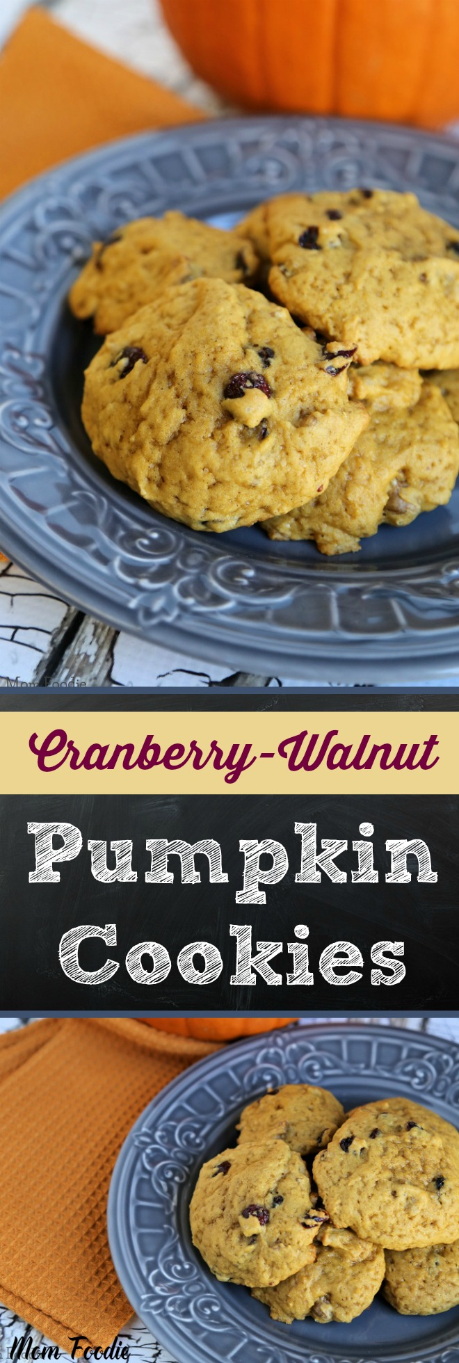 Cranberry Walnut Pumpkin Cookies