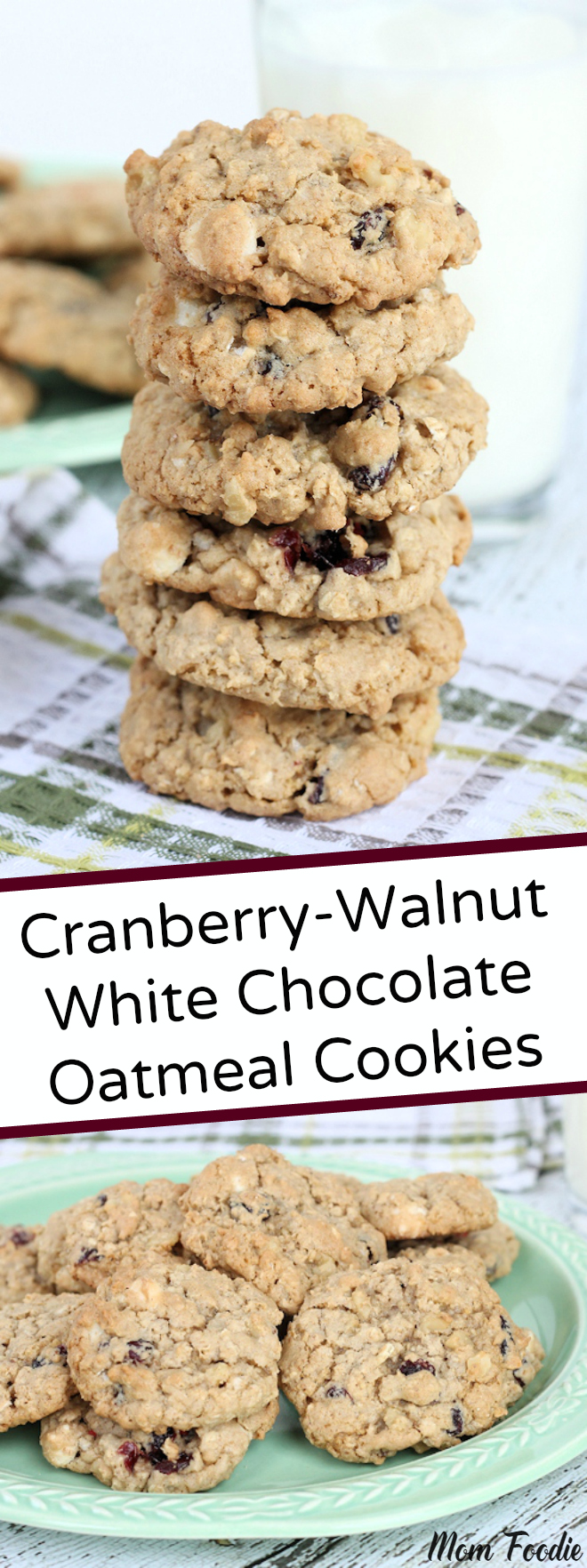 Cranberry Walnut White Chocolate Oatmeal Cookies
