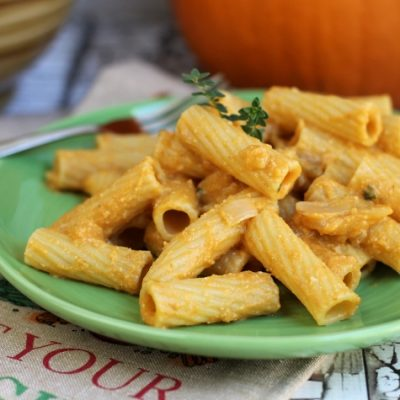 Vegan Creamy Pumpkin Pasta Recipe