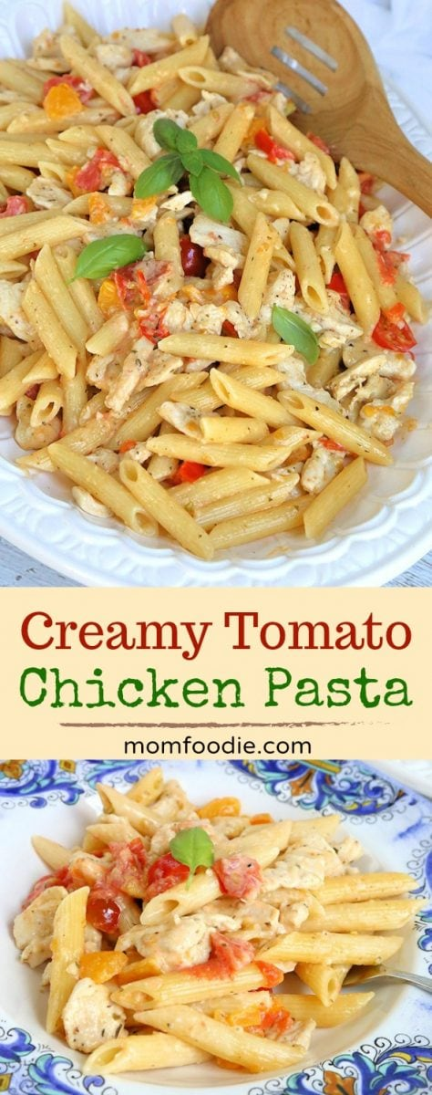 Creamy Heirloom Tomato Chicken Pasta