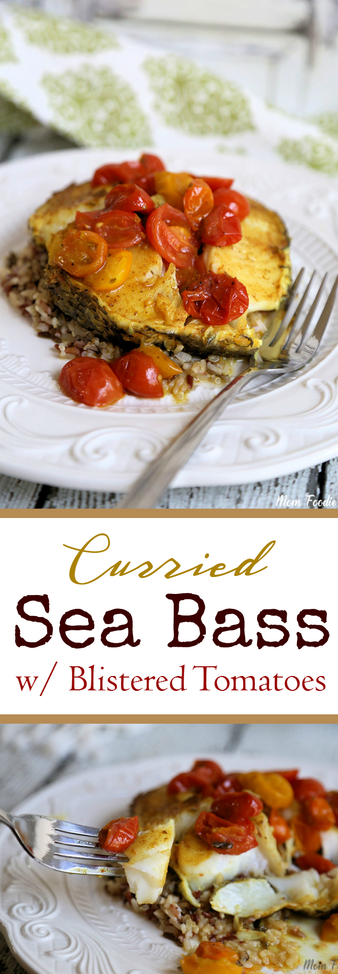 Curried Sea Bass with Blistered Tomatoes