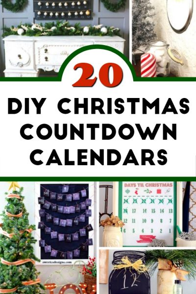 20 DIY Christmas Countdown Calendar Ideas