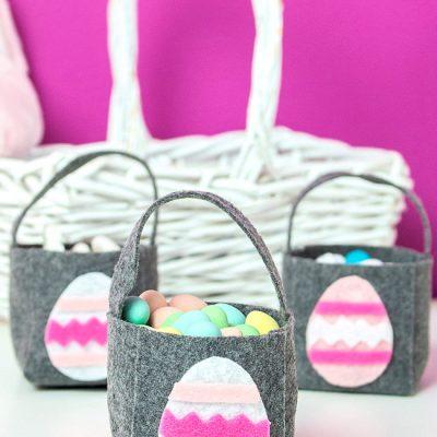 DIY Easter Basket Felt Mini