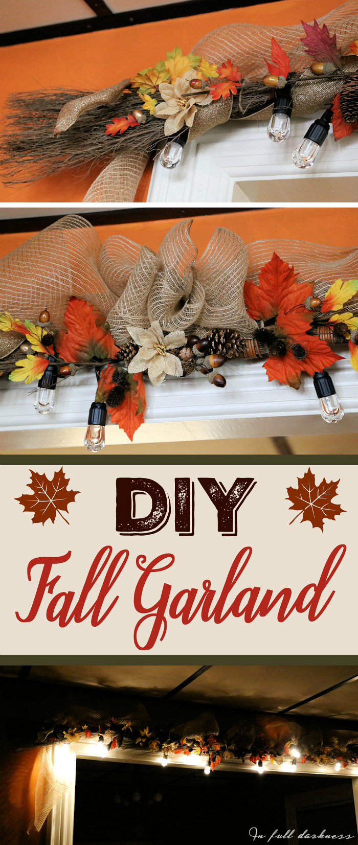 DIY Fall Lighted Garland