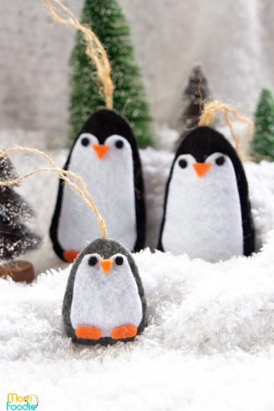 DIY Penguin ornaments
