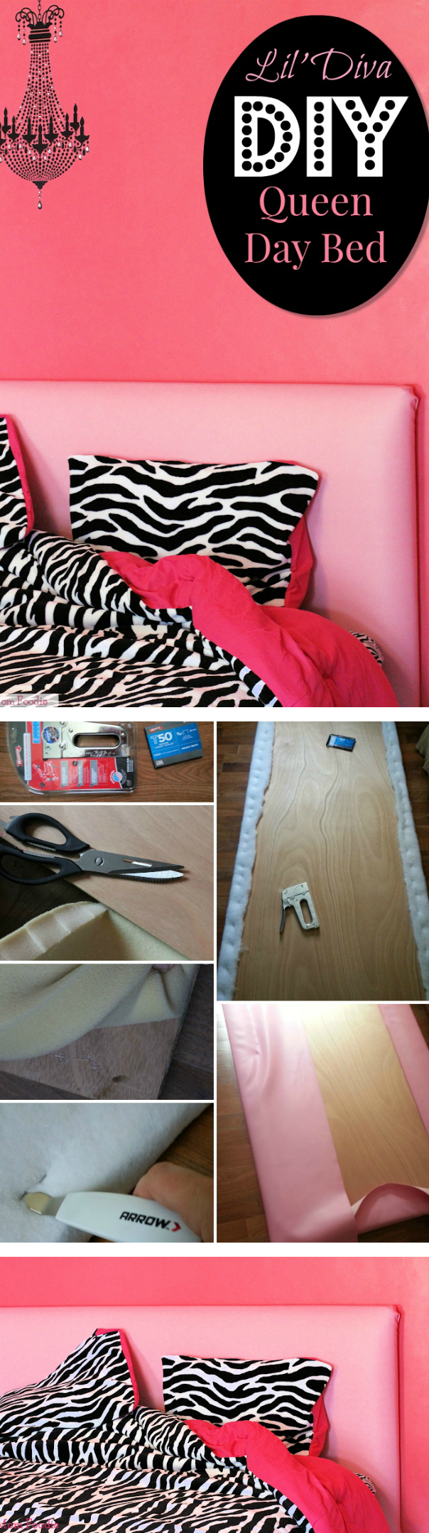 DIY Queen Bed to Daybed