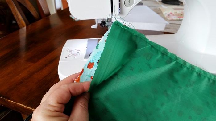 DIY Snack Bags Sewing lining