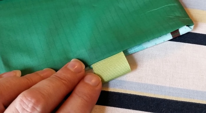 DIY Snack Bags edge and tab
