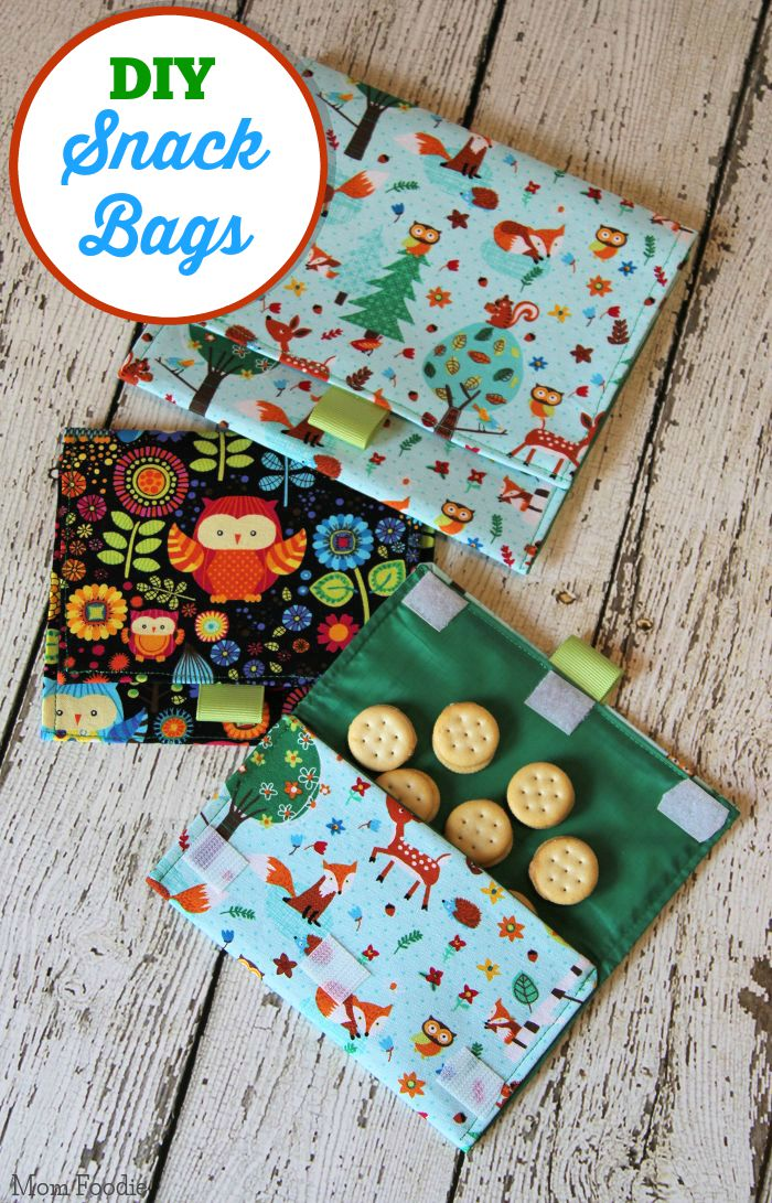 Cute Diy Lined Snack Bags Easy Sewing Project Mom Foodie