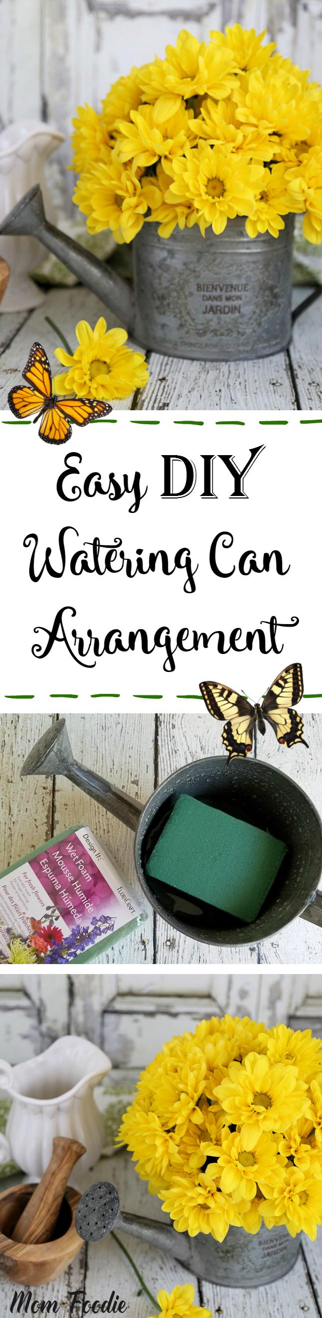 DIY Watering Can Arrangement