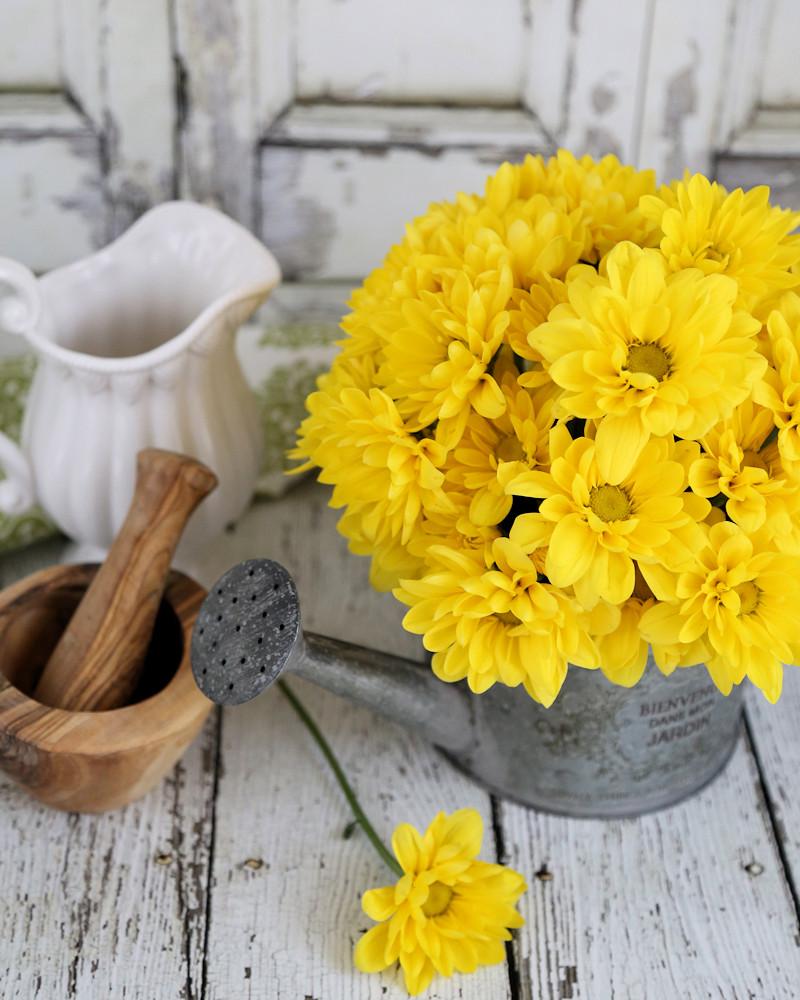 DIY Watering Can Flower arrangement