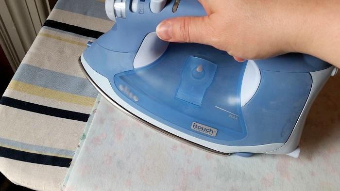 DIY snack Bags ironing backing