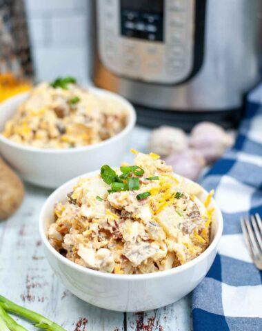 instant Pot loaded potato salad.