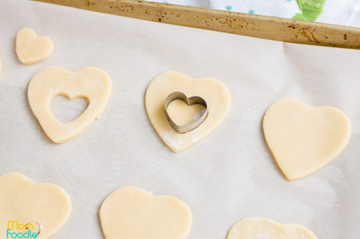 heart cut out cookie