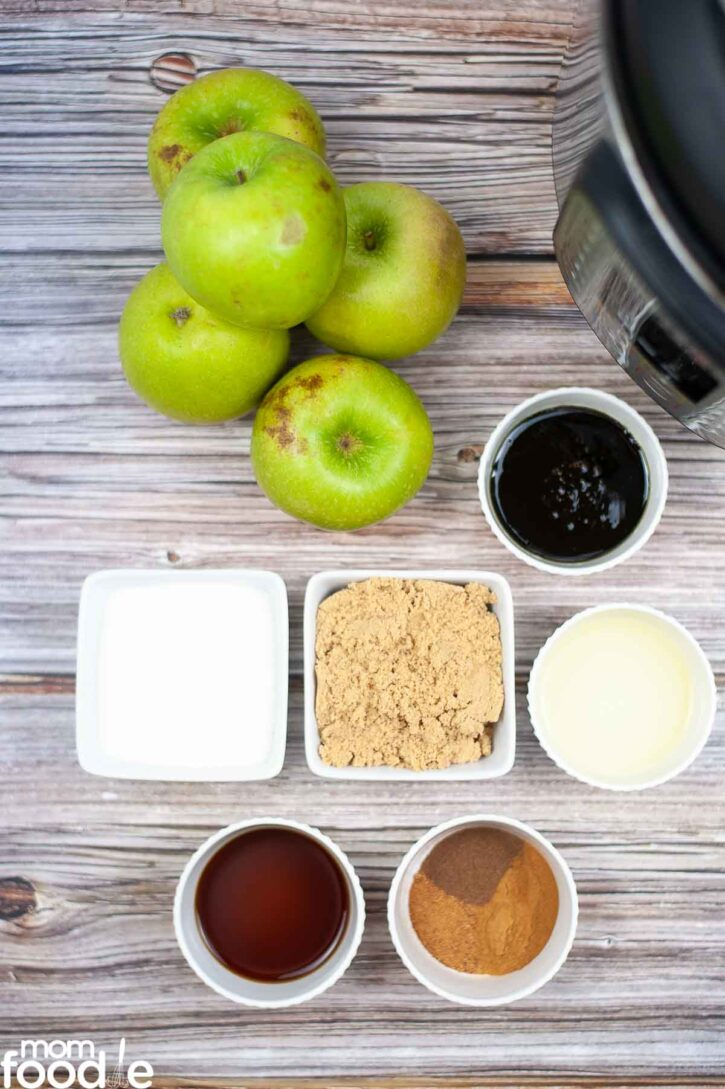 Ingredients for Apple Butter.