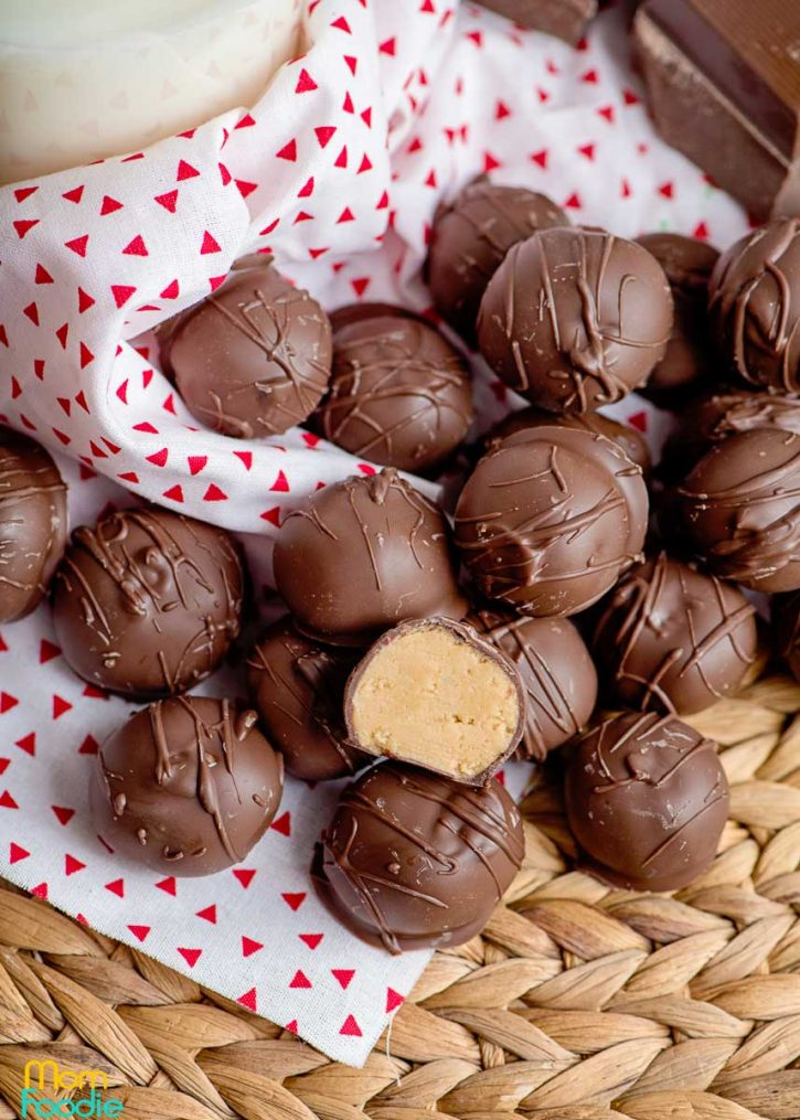 Chocolate covered Peanut Butter Balls