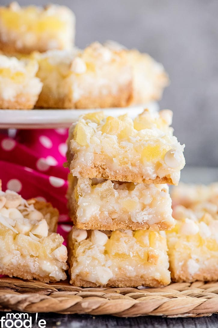 Pineapple Coconut Magic Cookie Bars
