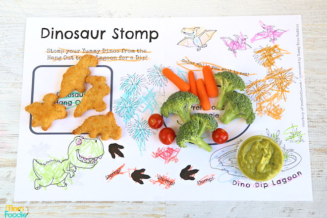 Dinosaur Meal PlaCEMAT