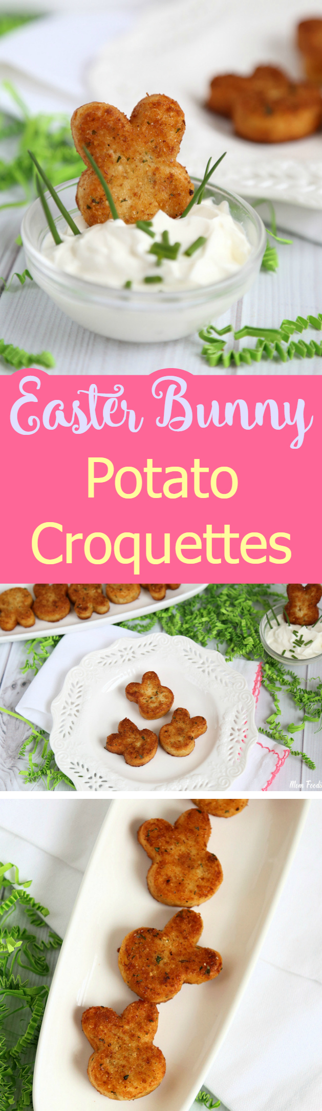 Easter Bunny Potato Croquette Recipe- a fun Savory Easter treat kids & adults will love.