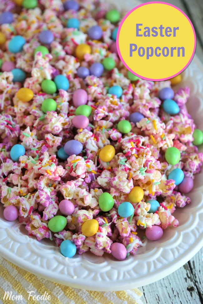 Easter Popcorn Recipe: Pastel Chocolate Covered Popcorn