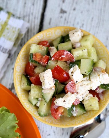 Easy Cucumber Feta Salad