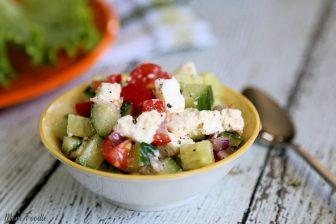 Easy Cucumber Feta Salad Recipe